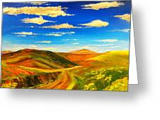 Hill View Valley Greeting Card