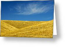 Hills And Clouds, Cypress Hills Greeting Card by Mike Grandmailson