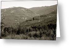 Hills In Black And White Greeting Card