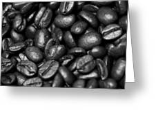 Hills Of Beans Bw Greeting Card