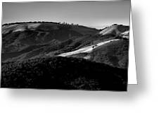 Hills Of Light And Darkness II Greeting Card