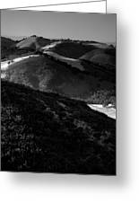 Hills Of Light And Darkness Greeting Card