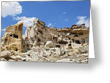 Hillside Cave Village And Ancient Township Greeting Card
