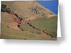 Hillside Erosion Caused By Run Greeting Card