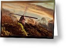 Hillside Windmill Greeting Card