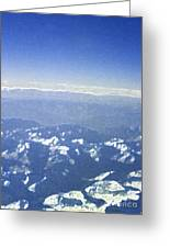 Himalayas Blue Greeting Card