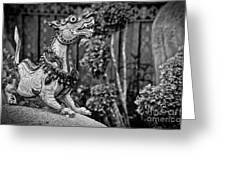 Himmapan Animals Statue Greeting Card