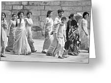 Hindu Pilgrims In Madurai Greeting Card