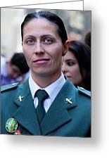 Hispanic Columbus Day Parade Nyc 11 9 11 Female Spanish Police O Greeting Card