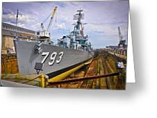 Historic Boston Ship Greeting Card