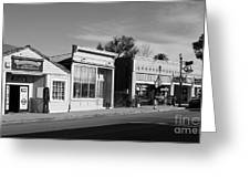 Historic Niles District In California Near Fremont . Main Street . Niles Boulevard . 7d10676  . Bw Greeting Card by Wingsdomain Art and Photography