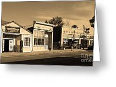 Historic Niles District In California Near Fremont . Main Street . Niles Boulevard . 7d10676 . Sepia Greeting Card by Wingsdomain Art and Photography