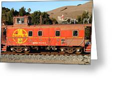 Historic Niles Trains In California . Old Sante Fe Caboose . 7d10832 Greeting Card by Wingsdomain Art and Photography