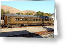 Historic Niles Trains In California . Old Western Pacific Passenger Train . 7d10836 Greeting Card by Wingsdomain Art and Photography