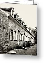 Historic Row Homes Allaire Village Greeting Card