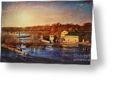 Historic Vulcan Paper Mill Greeting Card