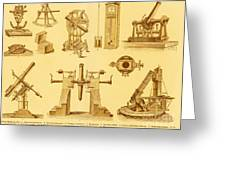 Historical Astronomy Instruments Greeting Card