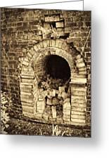 Historical Brick Kiln Oven Opening Decatur Alabama Usa Greeting Card