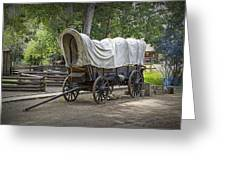 Historical Frontier Covered Wagon Greeting Card