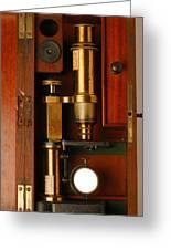 Historical Microscope Greeting Card