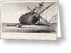 Hms Beagle Ship Laid Up Darwin's Voyage Greeting Card by Paul D Stewart