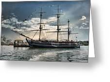 Hms Bounty Newport Greeting Card
