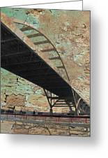 Hoan Bridge And Brick Greeting Card