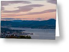 Hobart Harbour During Sunset Greeting Card