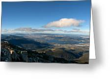 Hobart Tasmania Mount Wellington Greeting Card