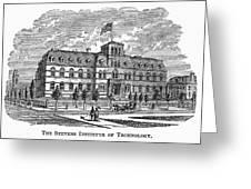 Hoboken: College, 1878 Greeting Card