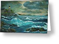 Hobson's Lighthouse Greeting Card