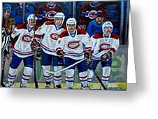 Hockey Art At Bell Center Montreal Greeting Card