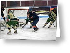 Hockey One On Four Greeting Card