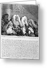 Hogarth: Judges, 1758 Greeting Card