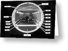 Holland Tunnel Section View Greeting Card