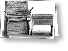 Hollerith Tabulator, 1890 Greeting Card