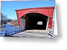 Holliwell Covered Bridge Greeting Card