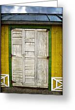 Holliwood Beach Door Greeting Card