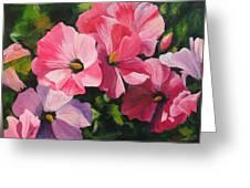 Hollyhocks In The Sunshine Greeting Card