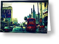 Hollywood Boulevard In La Greeting Card
