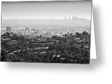 Hollywood From Above Greeting Card