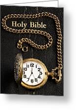 Holy Bible Pocket Watch 1 Greeting Card