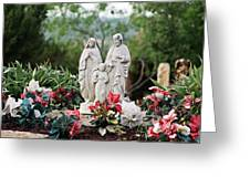 Holy Family In The Garden Greeting Card