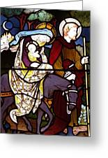 Holy Family Stained Glass Greeting Card