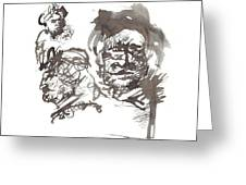 Homage To Rembrandt Greeting Card