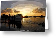 Home Before The Night  Greeting Card