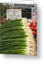 Home Grown Onions Greeting Card