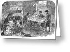 Home Industry, 1871 Greeting Card