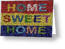 Home Sweet Home Bottle Cap Mosaic  Greeting Card by Paul Van Scott