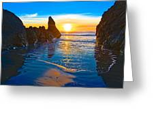 Honda Cove Sunset Greeting Card